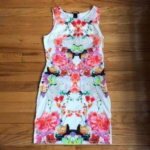 H&M floral bodycon dress